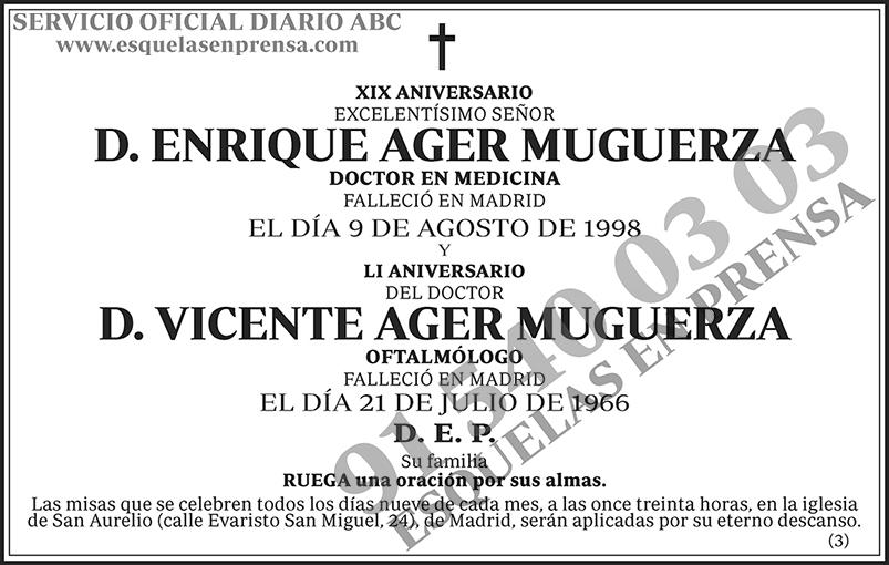 Enrique y Vicente Ager Muguerza